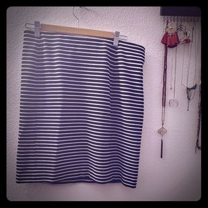 Joe Fresh Striped Pencil Skirt
